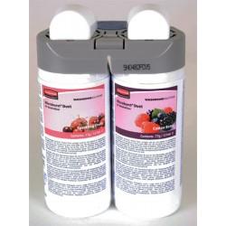 Lot de 4 recharges double parfum sparkling fruits and cotton berry pour diffuseur MB Duet Rubbermaid