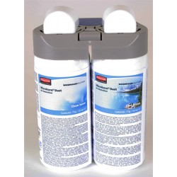 Lot de 4 recharges double parfum clean sense and cool breeze pour diffuseur MB Duet Rubbermaid