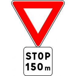 Panneau alu de signalisation des priorités AB5 CL 2 700 mm