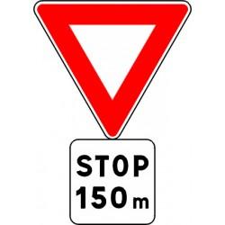 Panneau alu de signalisation des priorités AB5 CL 1 500 mm