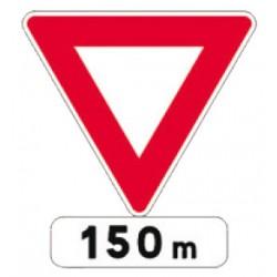 Panneau alu de signalisation des priorités AB3b CL 1 500 mm
