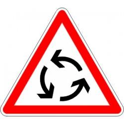 Panneau alu de signalisation intersections AB25 cl 1 500 mm