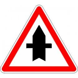 Panneau alu de signalisation intersections AB2 cl 2 500 mm