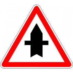 Panneau alu de signalisation intersections AB2 cl 1 700 mm