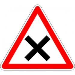 Panneau alu de signalisation intersections AB1 cl 2 700 mm