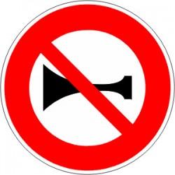 Panneau alu de signalisation d'interdiction B16 cl 2 650 mm
