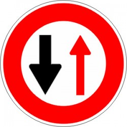 Panneau alu de signalisation d'interdiction B15 cl 2 650 mm