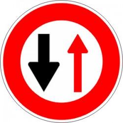 Panneau alu de signalisation d'interdiction B15 cl 2 450 mm
