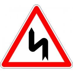 Panneau alu de signalisation danger A1D cl 1 700 mm