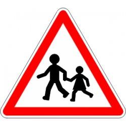 Panneau alu de signalisation danger A13A cl 1 1000 mm