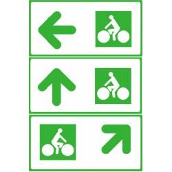 Panneau de presignaLisation des carréfours pistes cyclables 200x300 mm CL1