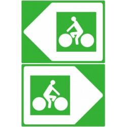 Panneau de position piste cyclable sans distance ni destination 200x300 mm CL1