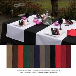 Lot de 20 serviettes de table 45x45 cm polycoton coloris foncé