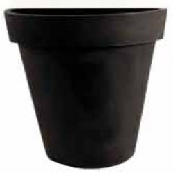 Demi pot décoratif rond simple peau ø 80xP39xH82 cm 110L