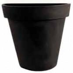 Demi pot décoratif rond simple peau ø 80xP39xH82 cm 110L