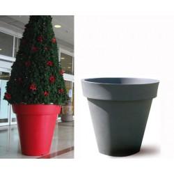 Pot décoratif rond simple peau ø 80xH80 cm 200L