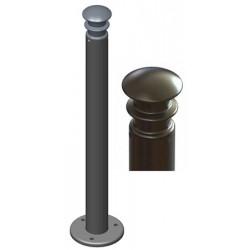 Potelet Elégance riveté sur platine diam 76,1mm x H1,2 m