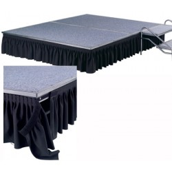 Jupe pour podium festival H39 cm tissu 100% polyester