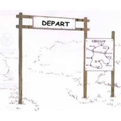 Panneau de départ et d'information