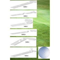 Mini golf 6 pistes et accessoires