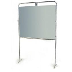 Panneau électoral acier avec pied 150x125 cm