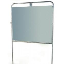 Panneau électoral acier avec fourreaux 150x125 cm