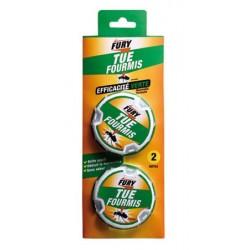Lot de 12 boîtes 2 appâts fourmis presentoir Fury