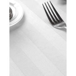Nappe satin polycoton blanc 144x144 cm