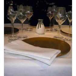 Lot de 10 nappes carrées 200x200 cm toile blanc 230g gamme lin