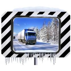Miroirs routiers inox poli antigivre antibuée 600x800 mm garantie 10 ans