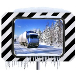 Miroirs routiers inox poli antigivre antibuée 400x600 mm garantie 10 ans