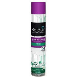 Lot de 12 aerosols desodorisants Boldair surpuissant the vert 750 ml
