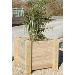 Jardinière bois Valence 100x100x80 cm à monter