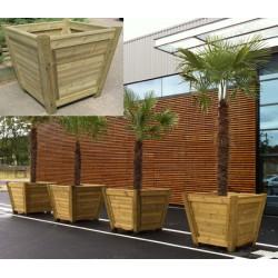 Jardinière bois en V Madrid 120x120xH85 cm