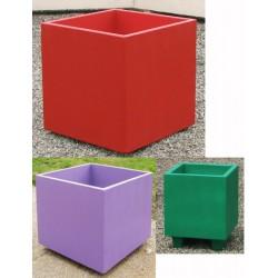 Jardinière bretagne béton coloré 47x47xH47 cm