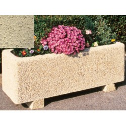 Jardinière rectangulaire 147L 150x50xH50 cm ton pierre sablé