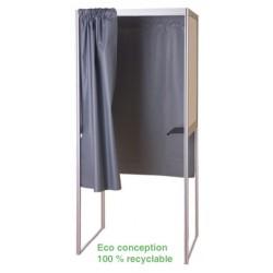 Isoloir structure alu rideau PVC M1 case initiale 100% recyclable