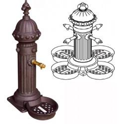 Fontaine Primevère en fonte quadruple