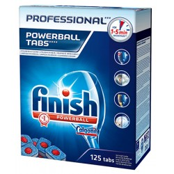 Lot de 3 boites de 125 powerball tablettes finish Calgonit Professionnel