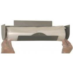 Distributeur inox mural pour sacs poubelles et housses largeur maxi 47 cm