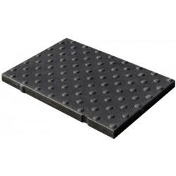 Dalles podotactilles en béton polymère noir L60xp41 cm