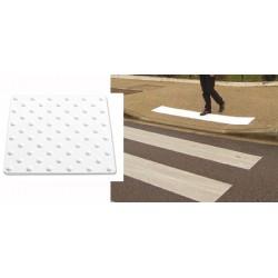 Dalle podo-tactile BEV application extérieure à coller 45x42 cm