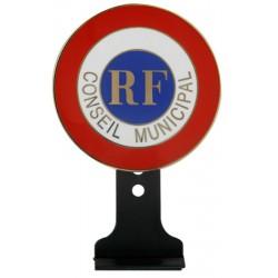 Cocarde métallique de conseiller municipal