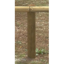 Poteaux bois diam 12xL150 cm