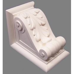 Console murale pour buste de Marianne classique blanc