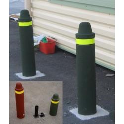 Borne anti-parking recyclé : platine de fixation