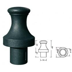 Borne en fonte poire H46 x diam 26,9 cm