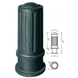 Borne en fonte amande diam 15,5 cm amovible avec boitier