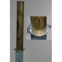 Borne anti-stationnement amovible avec boitier diam 14 x L125 cm