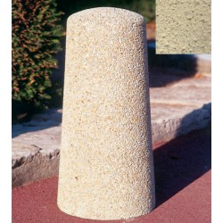 Borne conique diam 25xH50 cm ton pierre sablé